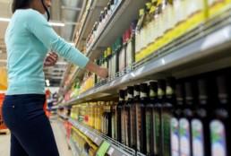 margem e compra em loja de conveniência