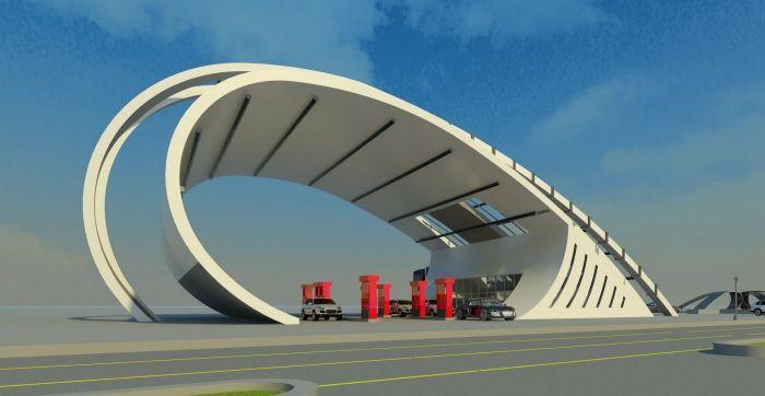 posto de combustíveis do futuro